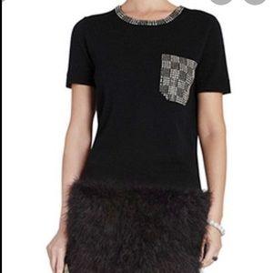 BCBGMAXAZRIA black NWT Lucine sweater, size XS.